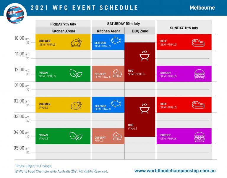 WFC Schedule